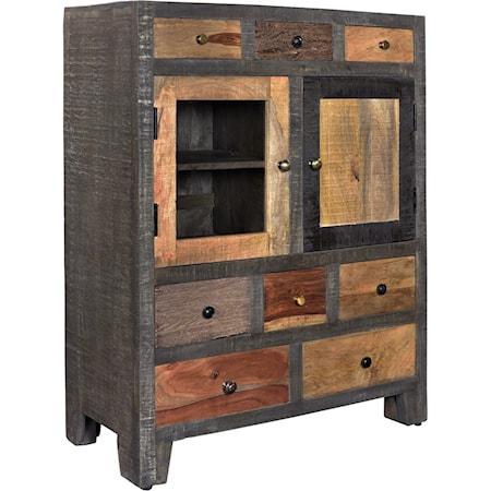 Eight Drawer Two Door Cabinet