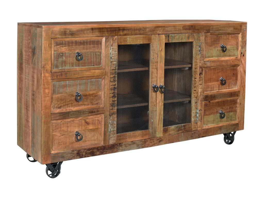 Coast to Coast Imports Coast to Coast AccentsSix Drawer Two Door Credenza