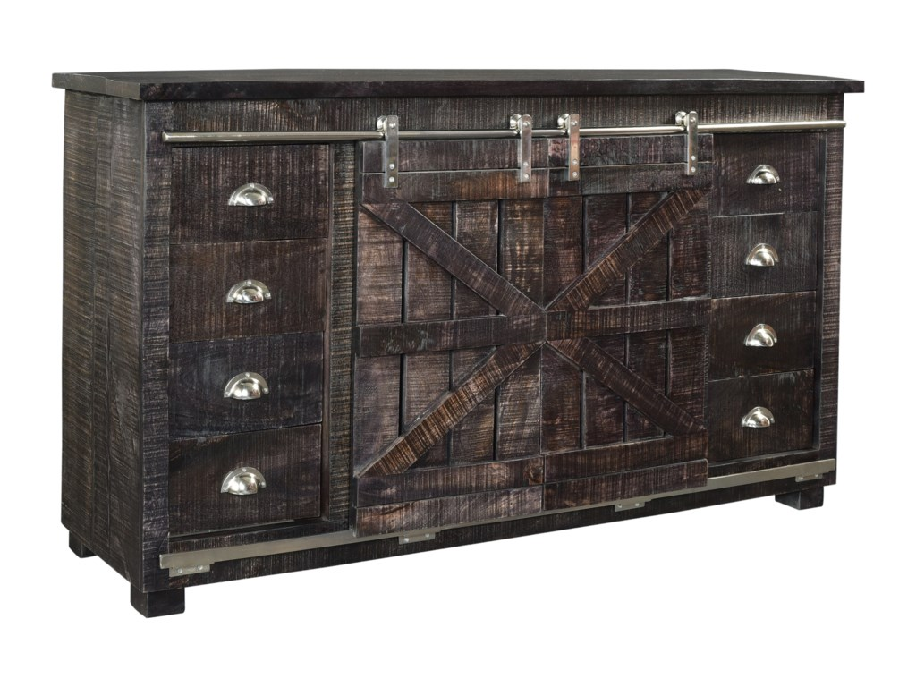 Coast to Coast Imports Coast to Coast AccentsEight Drawer Two Sliding Door Credenza