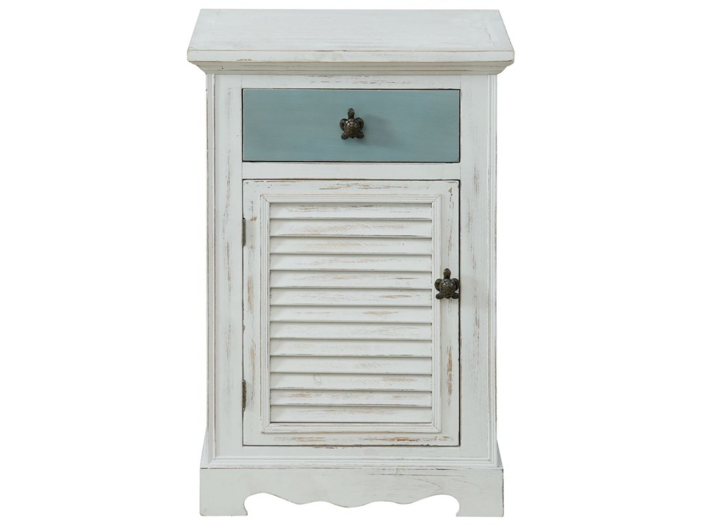 Coast to Coast Imports Pieces in ParadiseOne Door One Drawer Cabinet