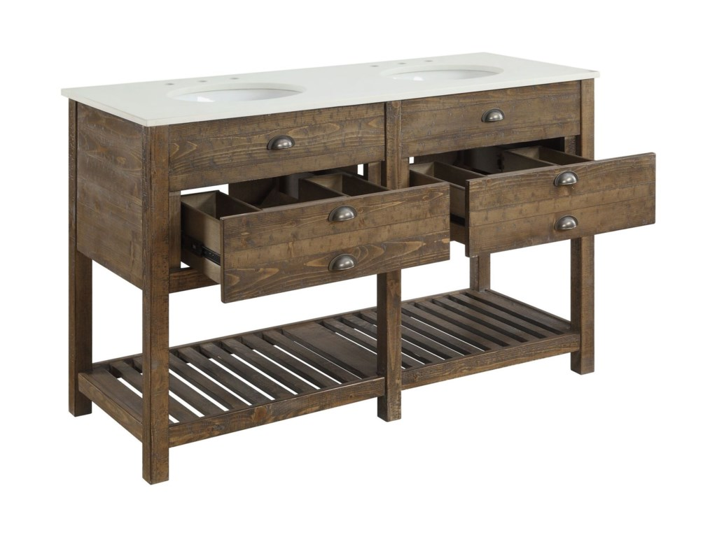 Coast to Coast Imports Coast to Coast AccentsTwo Drawer Double Vanity Sink