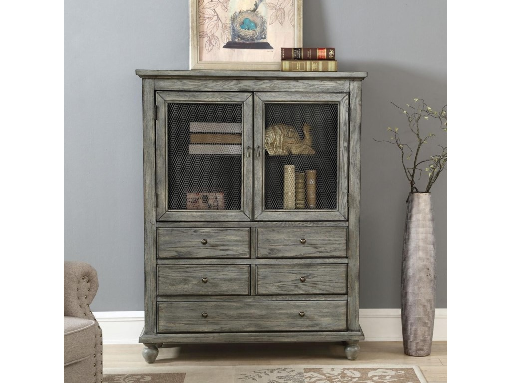 Coast to Coast Imports Coast to Coast AccentsTwo Door Five Drawer Cabinet