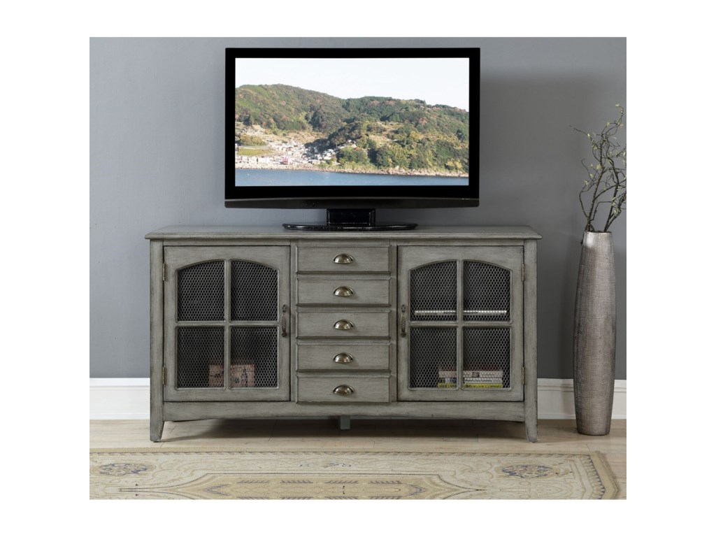 Coast to Coast Imports Coast to Coast AccentsTwo Door Five Drawer Media Credenza