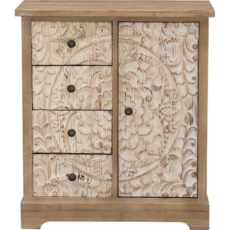 One Door Four Drawer Cabinet