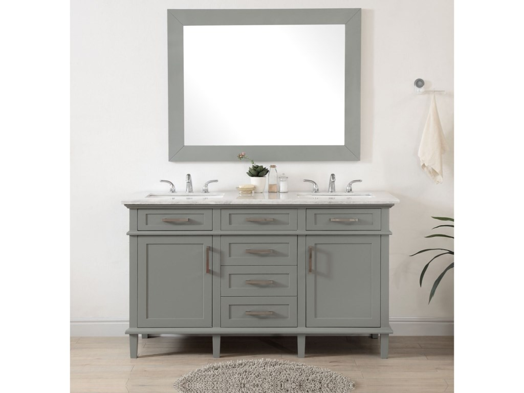 Coast to Coast Imports Coast to Coast Accents2-Door, 5-Drawer Double Vanity Sink