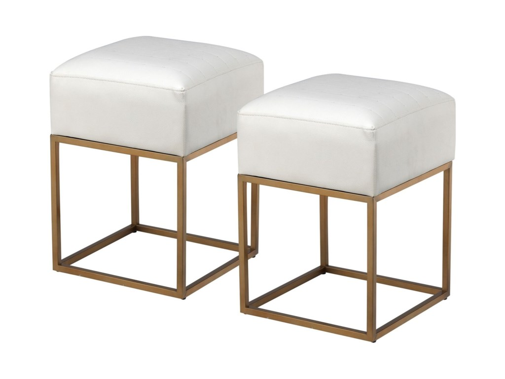 Coast to Coast Imports Coast to Coast AccentsSet of Two Accent Stools