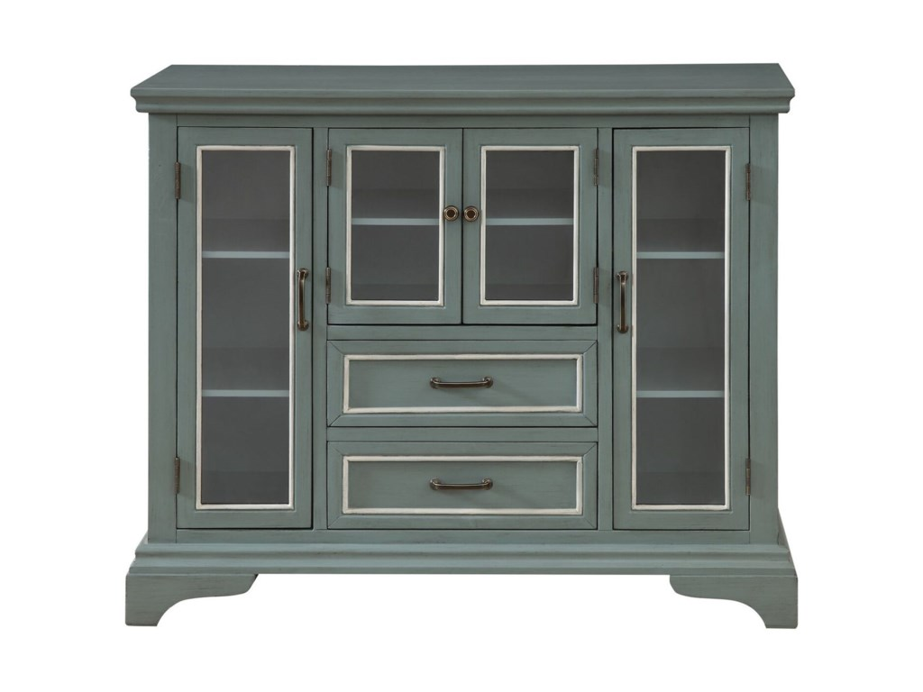Coast to Coast Imports Coast to Coast AccentsFour Door Two Drawer Cabinet