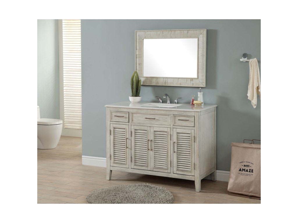 Coast to Coast Imports Coast to Coast AccentsFour Door Two Drawer Vanity Sink
