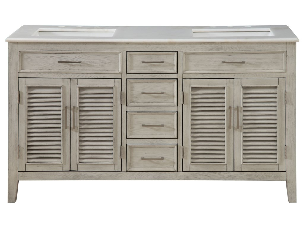 Coast to Coast Imports Coast to Coast AccentsFour Door Four Drawer Double Vanity Sink