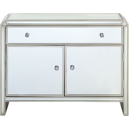 Two Door One Drawer Cabinet