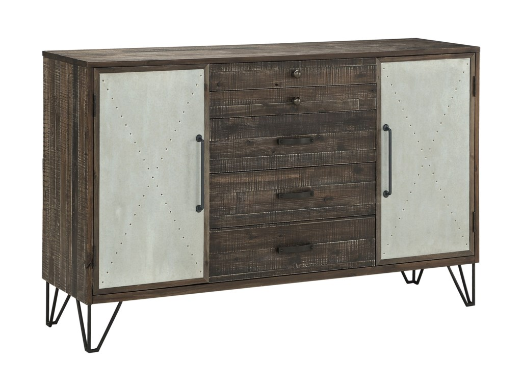 Coast to Coast Imports Coast to Coast AccentsTwo Door Five Drawer Credenza