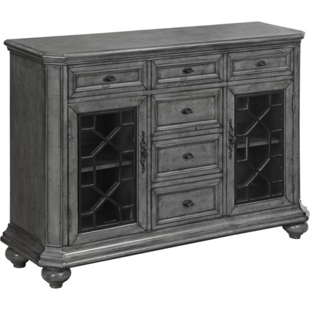 Two Door Six Drawer Sideboard