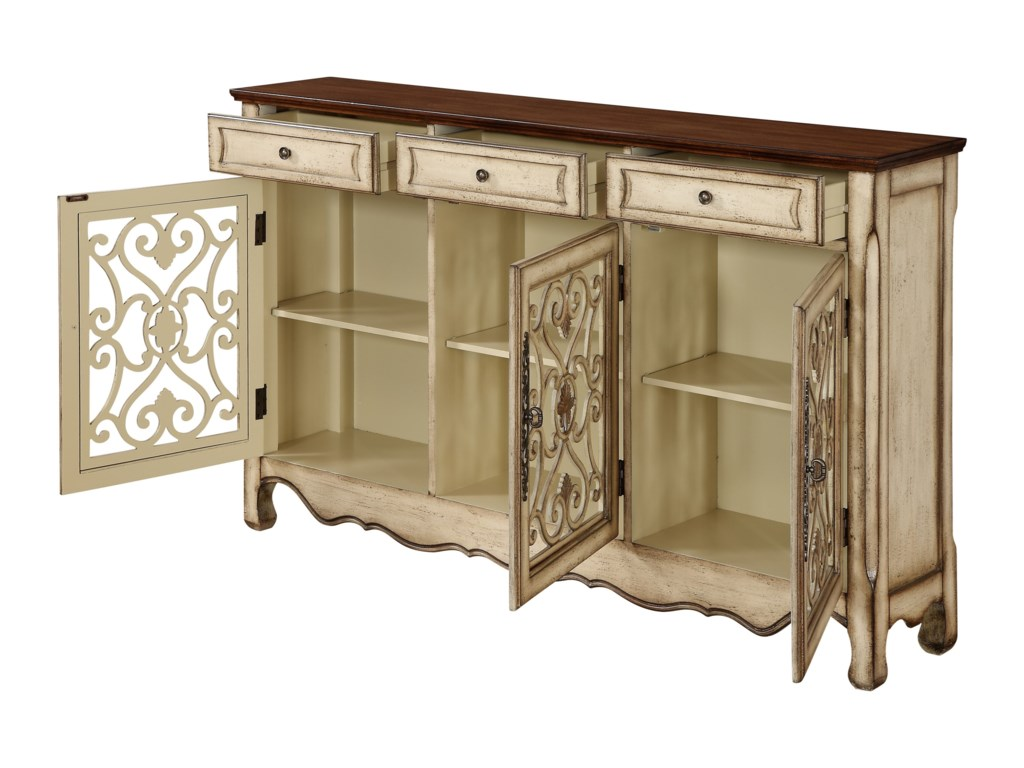 Coast to Coast Imports Coast to Coast AccentsThree Drawer Three Door Credenza