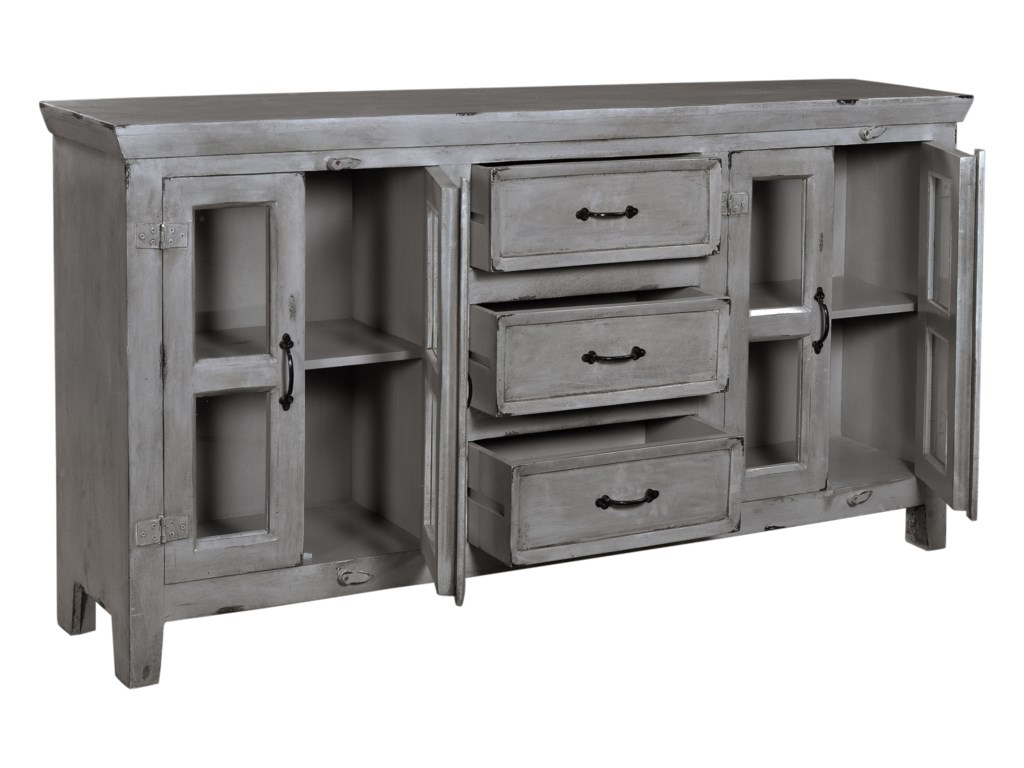 Coast to Coast Imports Coast to Coast AccentsFour Door Three Drawer Credenza
