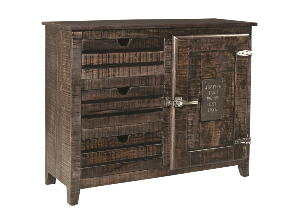 Coast to Coast Imports Coast to Coast AccentsOne Door Three Drawer Cabinet