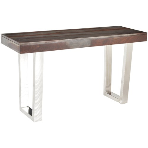 Coast to Coast Imports Cosmopolitan Stainless Steel Base Console Table