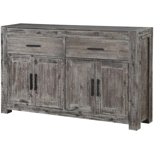 Coast to Coast Imports Farmington Transitional Credenza with 2 Drawers