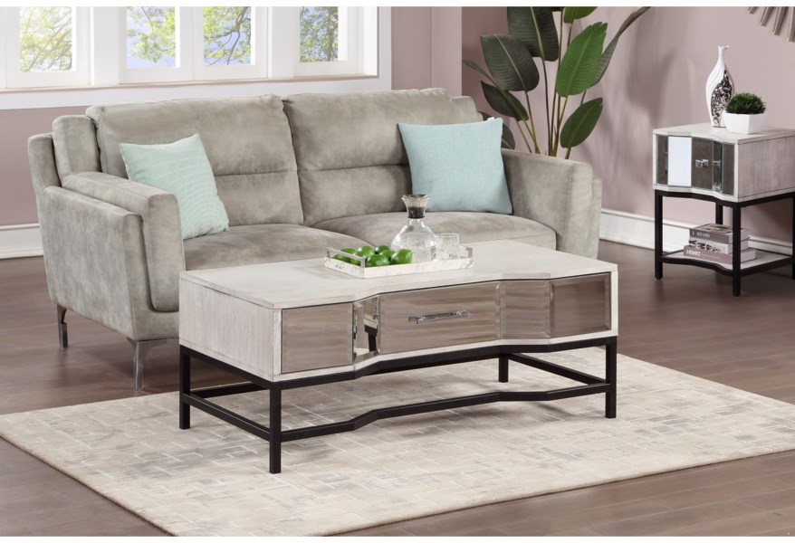Coast To Coast Imports Gabby Contemporary 1 Drawer End Table Value City Furniture End Tables