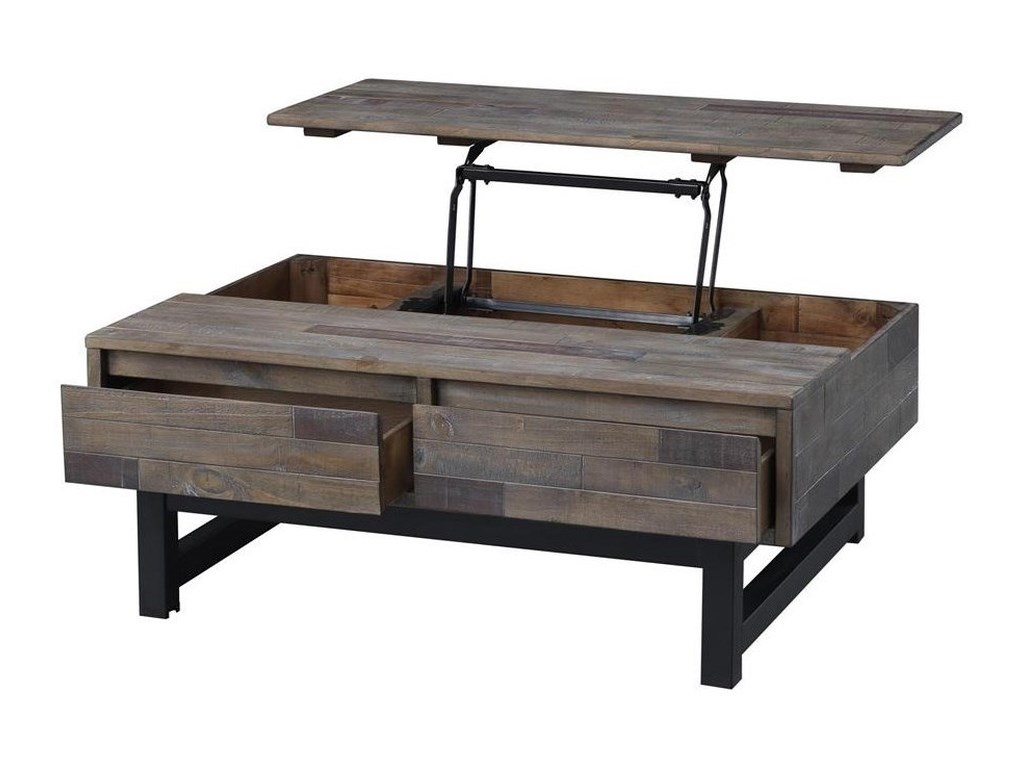 Coast to Coast Imports HeartlandTwo Drawer Lift Top Cocktail Table