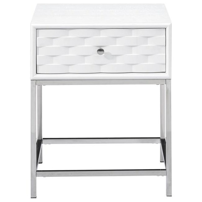 Contemporary One Drawer End Table