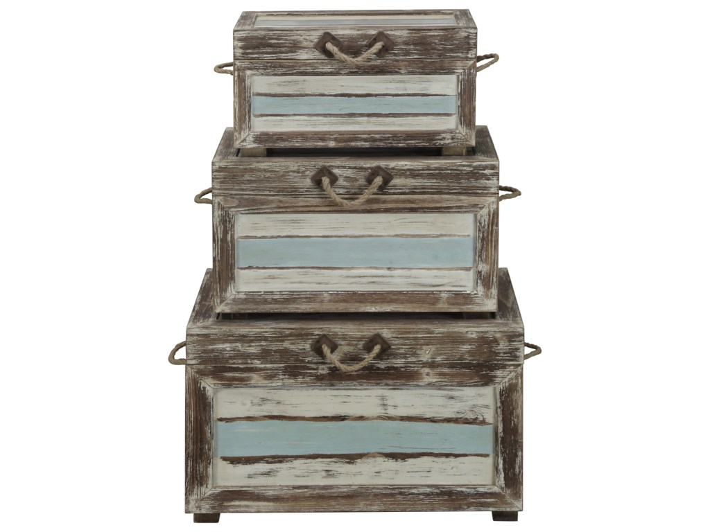 Coast to Coast Imports IslanderSet Of 3 Nesting Trunks