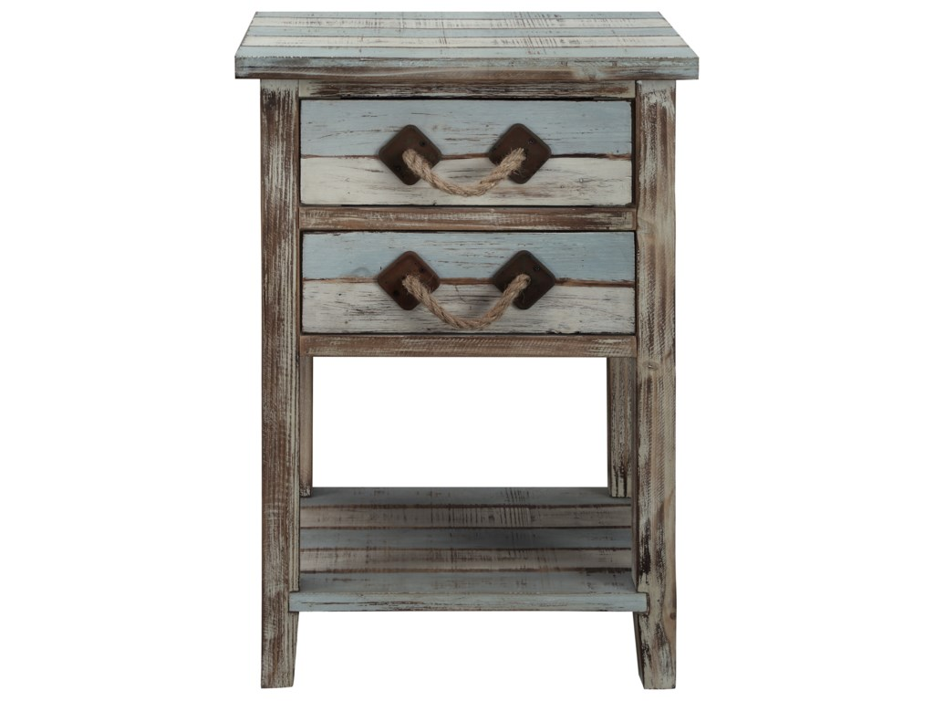 Coast to Coast Imports IslanderTwo Drawer Accent Table