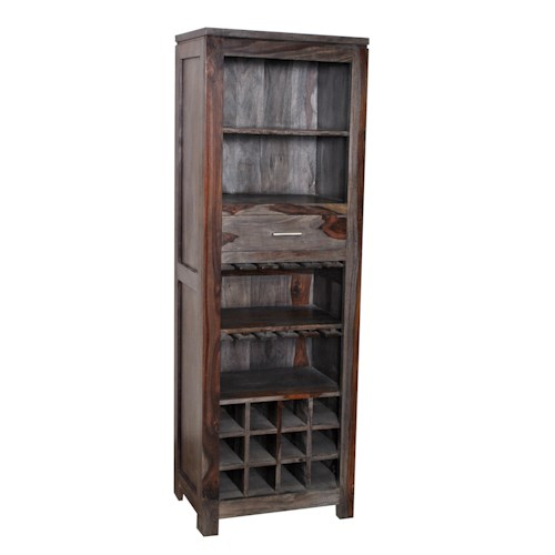 Coast to Coast Imports Grayson One Drawer Wine Cabinet