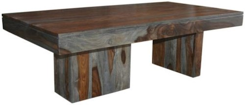 Coast to Coast Imports Grayson Cocktail Table with Asymmetrical Legs