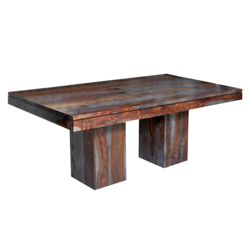 Coast To Imports Zamora Double Pedestal Dining Table