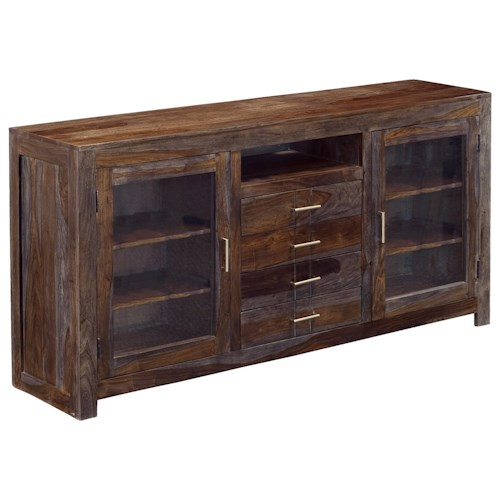 Coast to Coast Imports Grayson Four Drawer Two Door Media Console