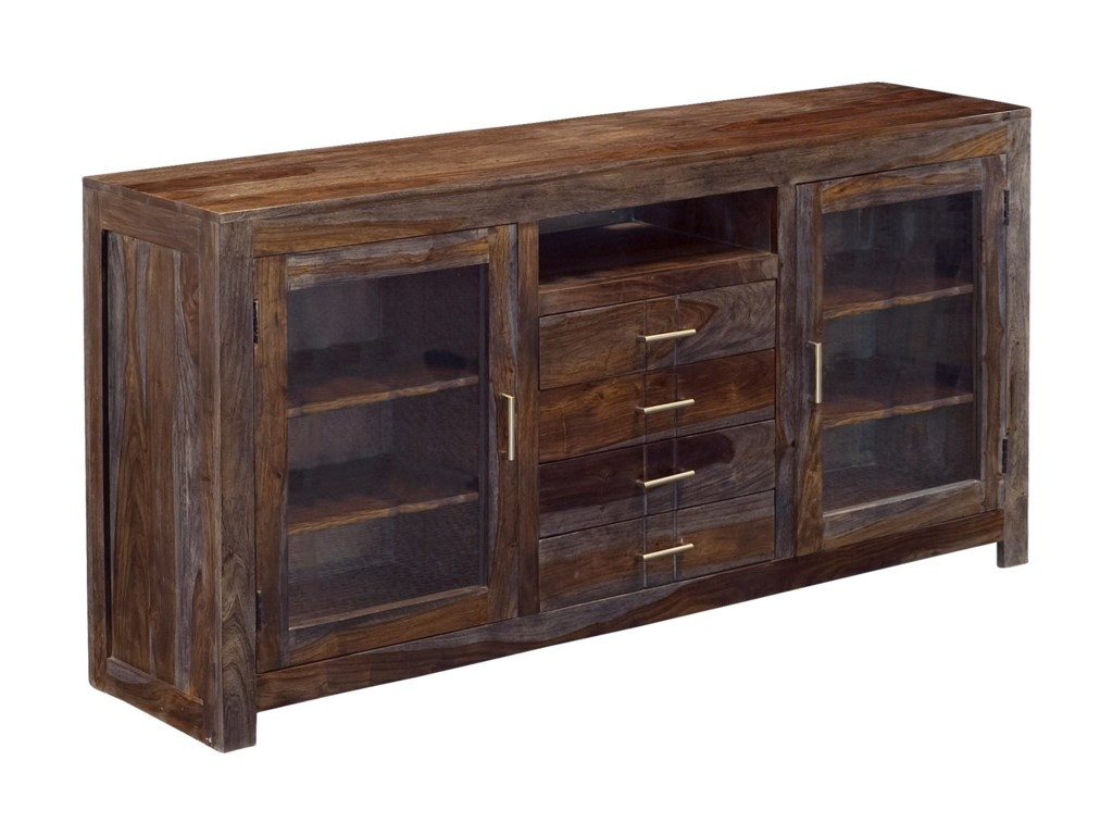 Coast to Coast Imports GraysonFour Drawer Two Door Media Console