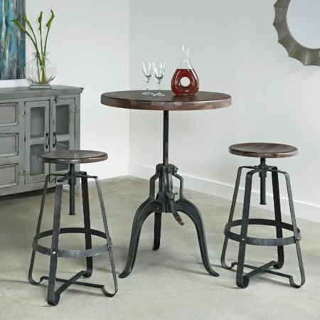Adjustable Height Bistro Table & Chairs