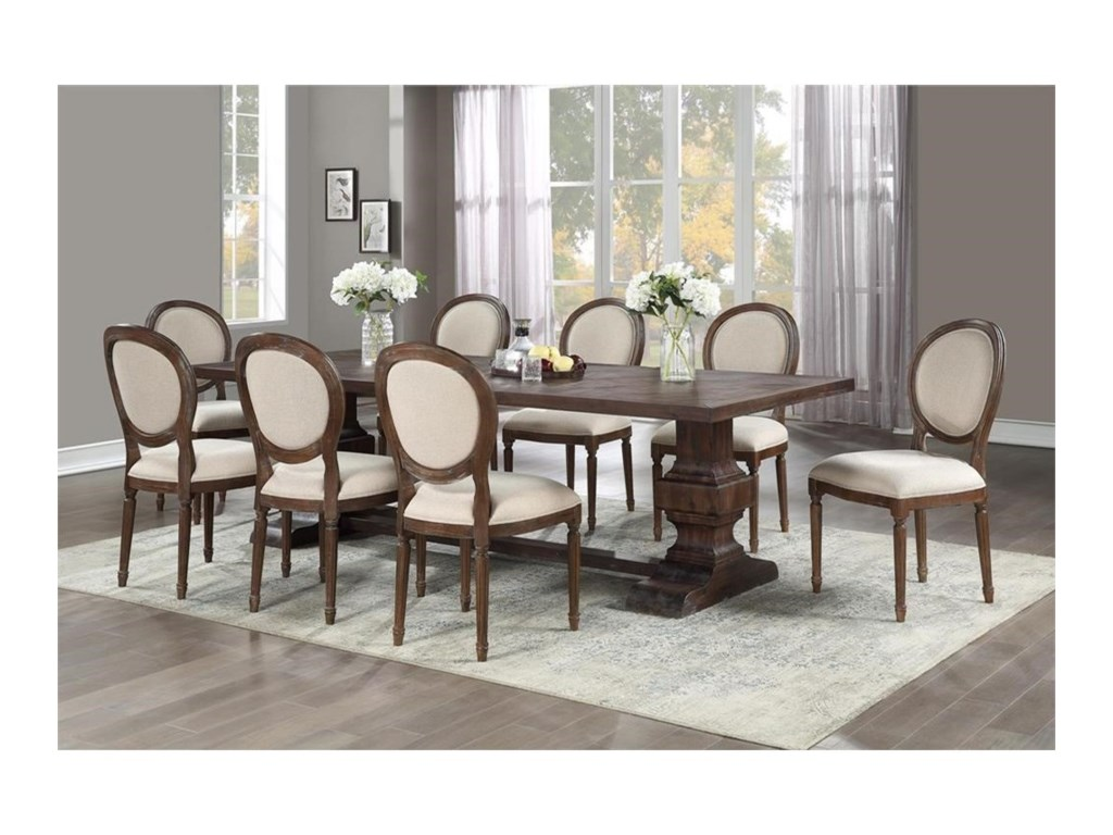 Coast to Coast Imports Marquette9-Piece Table and Chair Set