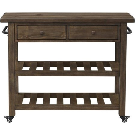 Two Drawer Kitchen Cart