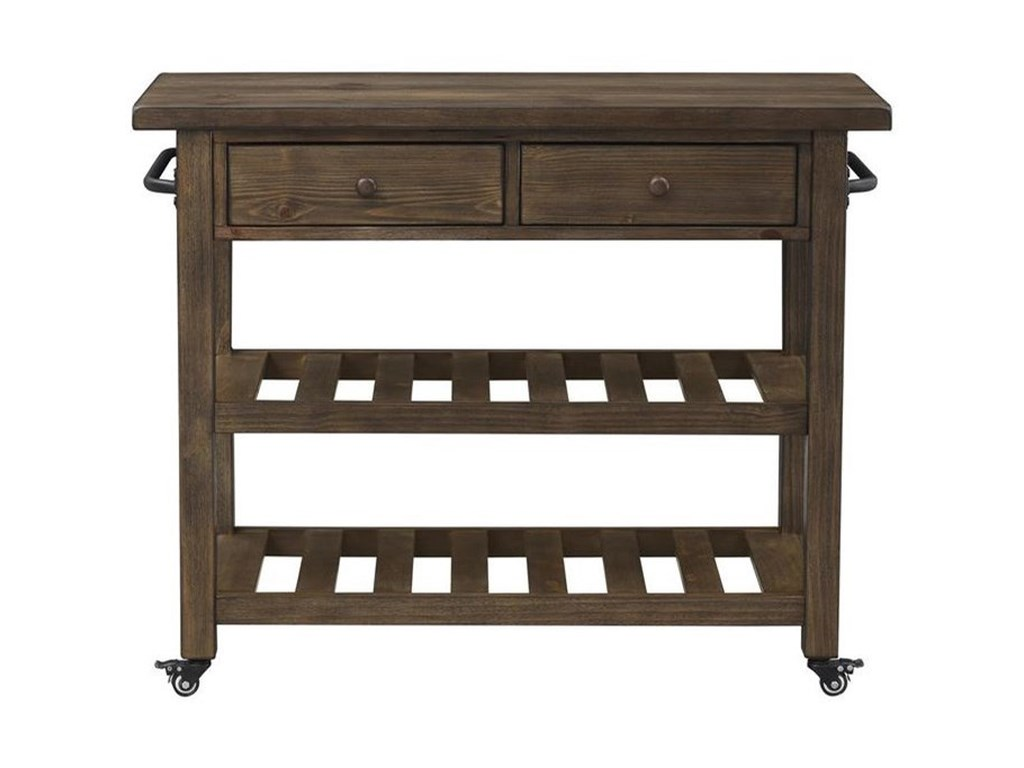 Orchard Park Traditional Two Drawer Kitchen Cart By Coast To Coast Imports At Zak S Home