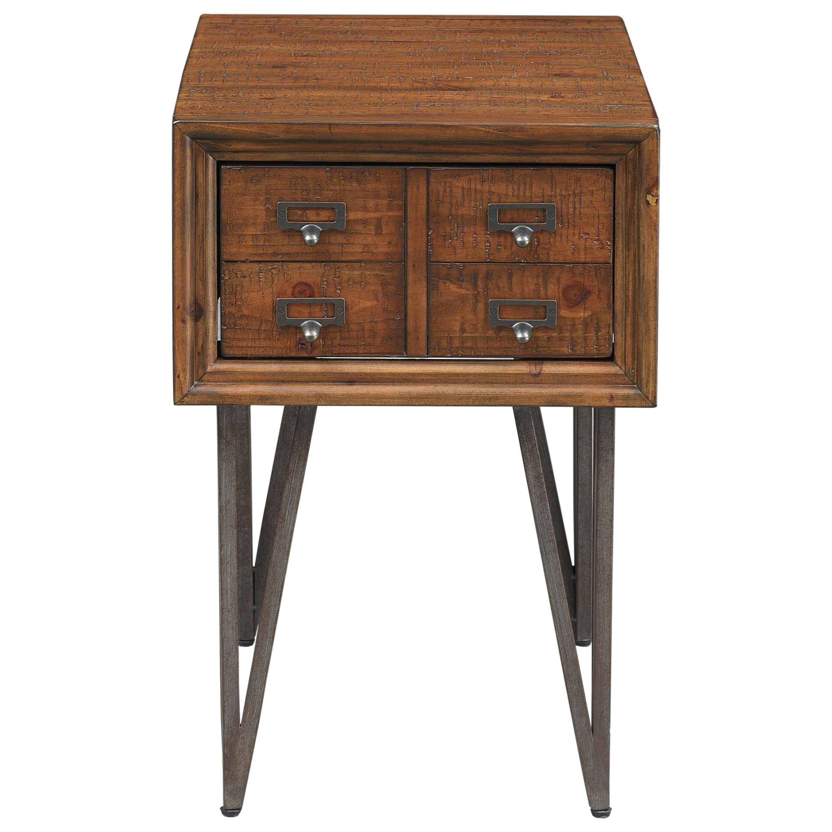 Relaxed Vintage One Drawer Chairside Table