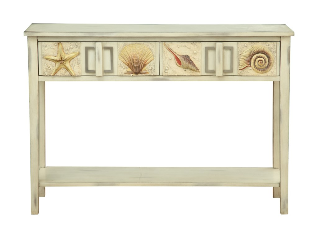 Coast to Coast Imports SurfsideTwo Drawer Console Table