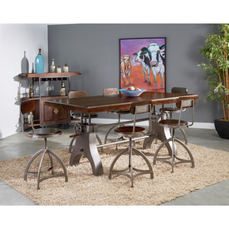 7-Piece Pub Dining Table and Chair Set