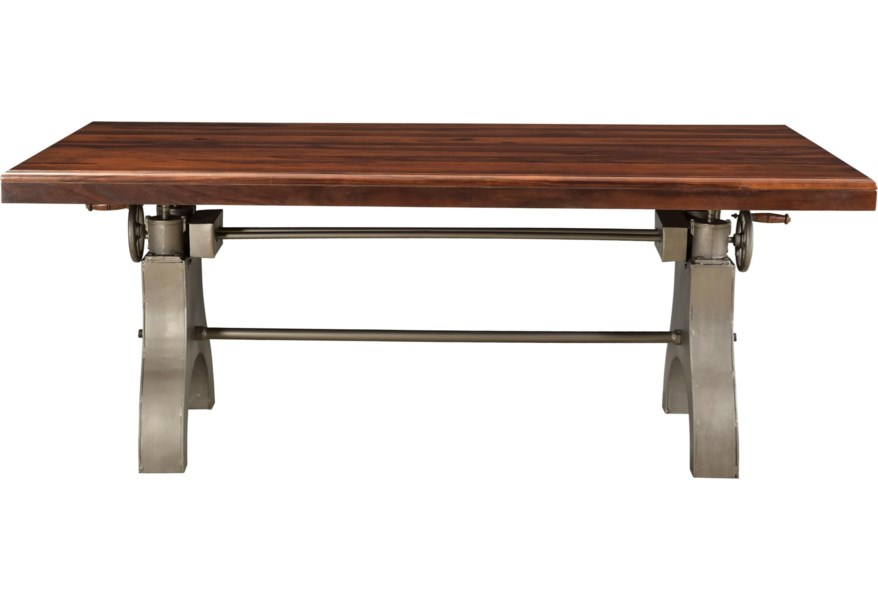 Coast To Coast Imports Tacoma Industrial Dining Table With Adjustable Height Fashion Furniture Pub Tables