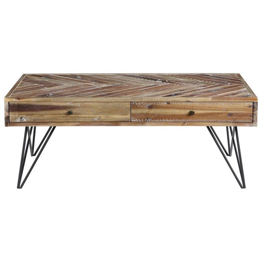 Contemporary Two Drawer Cocktail Table