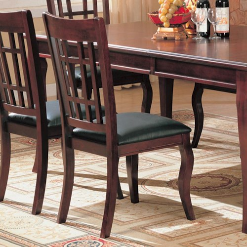 Coaster Newhouse Side Chair with Faux Leather Seat