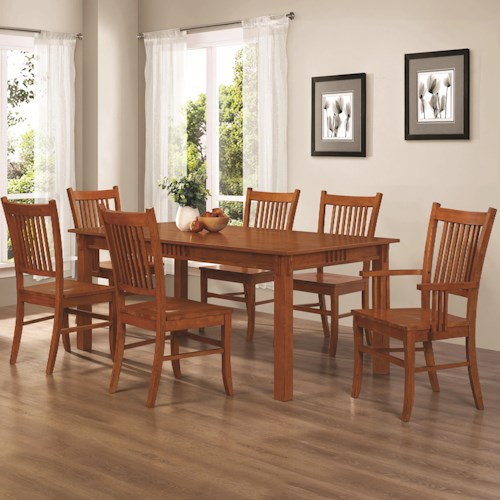Coaster Marbrisa 7 Piece Dining Set