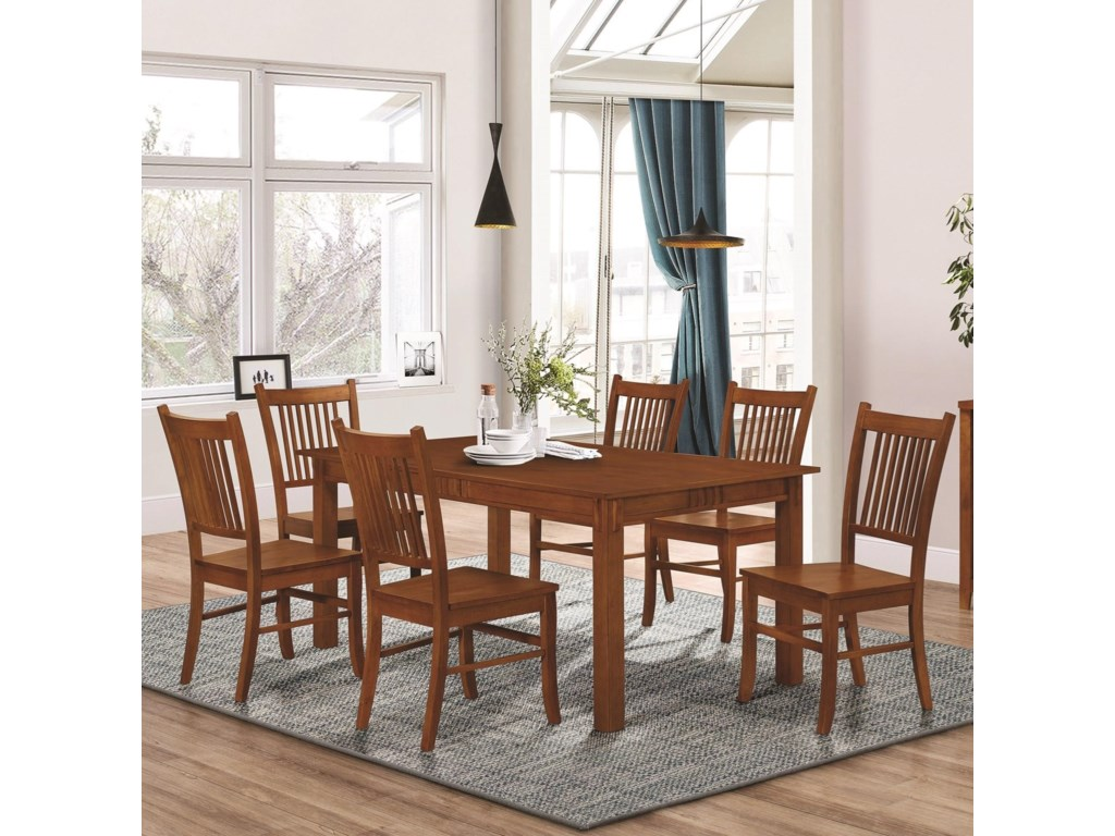 Coaster Furniture Marbrisa7 Piece Dining Set