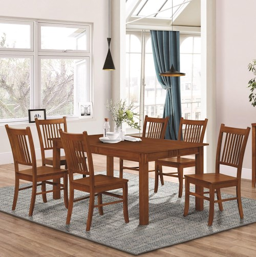 Coaster Marbrisa Mission Style 7 Piece Dining Set