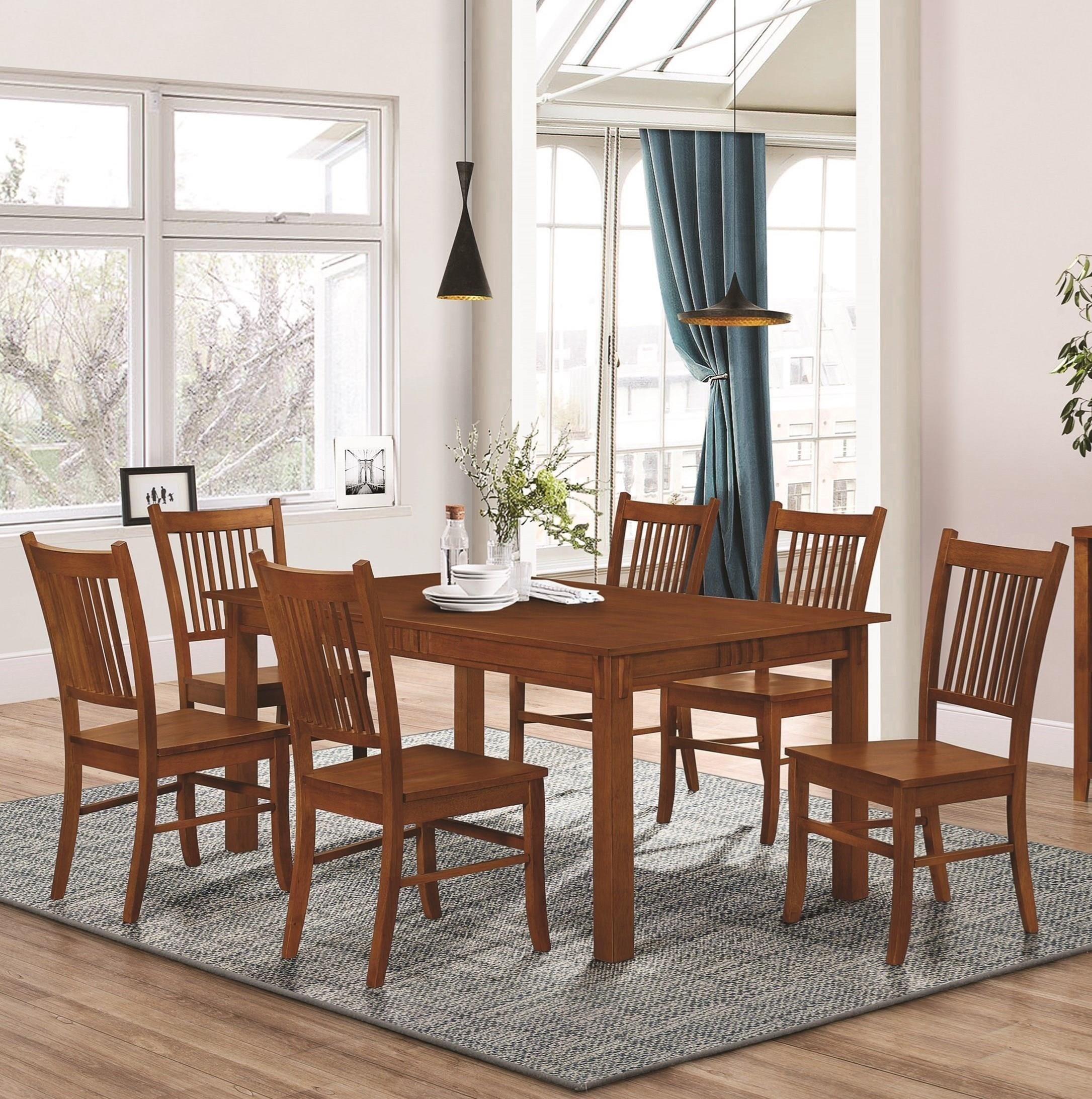 Coaster Marbrisa Mission Style 7 Piece Dining Set | Dunk U0026 Bright Furniture  | Dining 7 (or More) Piece Sets