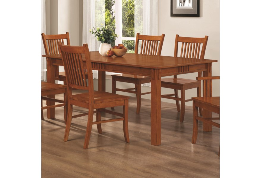 Coaster Marbrisa Rectangular Leg Dining Table Prime Brothers Furniture Dining Tables