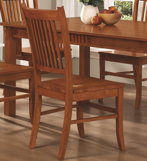 Coaster Marbrisa Slat Back Mission Side Chair