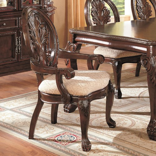 Coaster Tabitha Traditional Dining Arm Chair