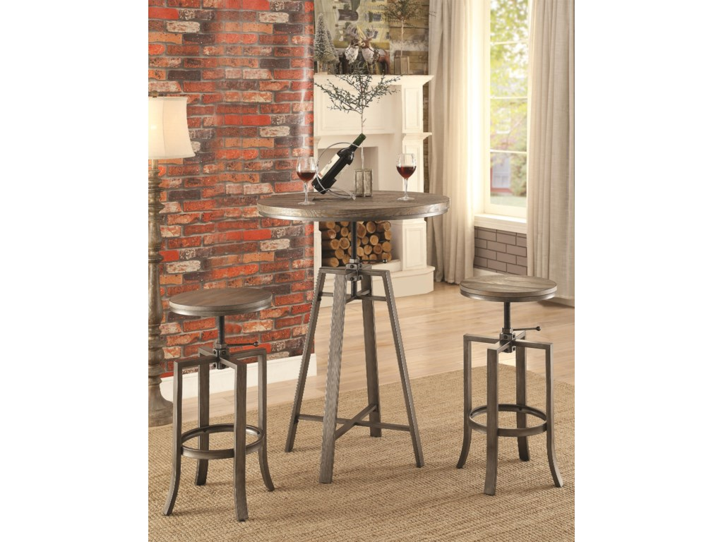 Coaster 101813 Pc Adjustable Pub Table Set
