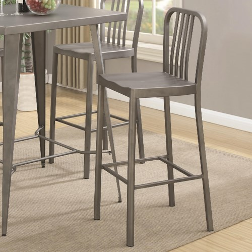 Coaster 10593 Industrial Bar Stool with Saddle Seat